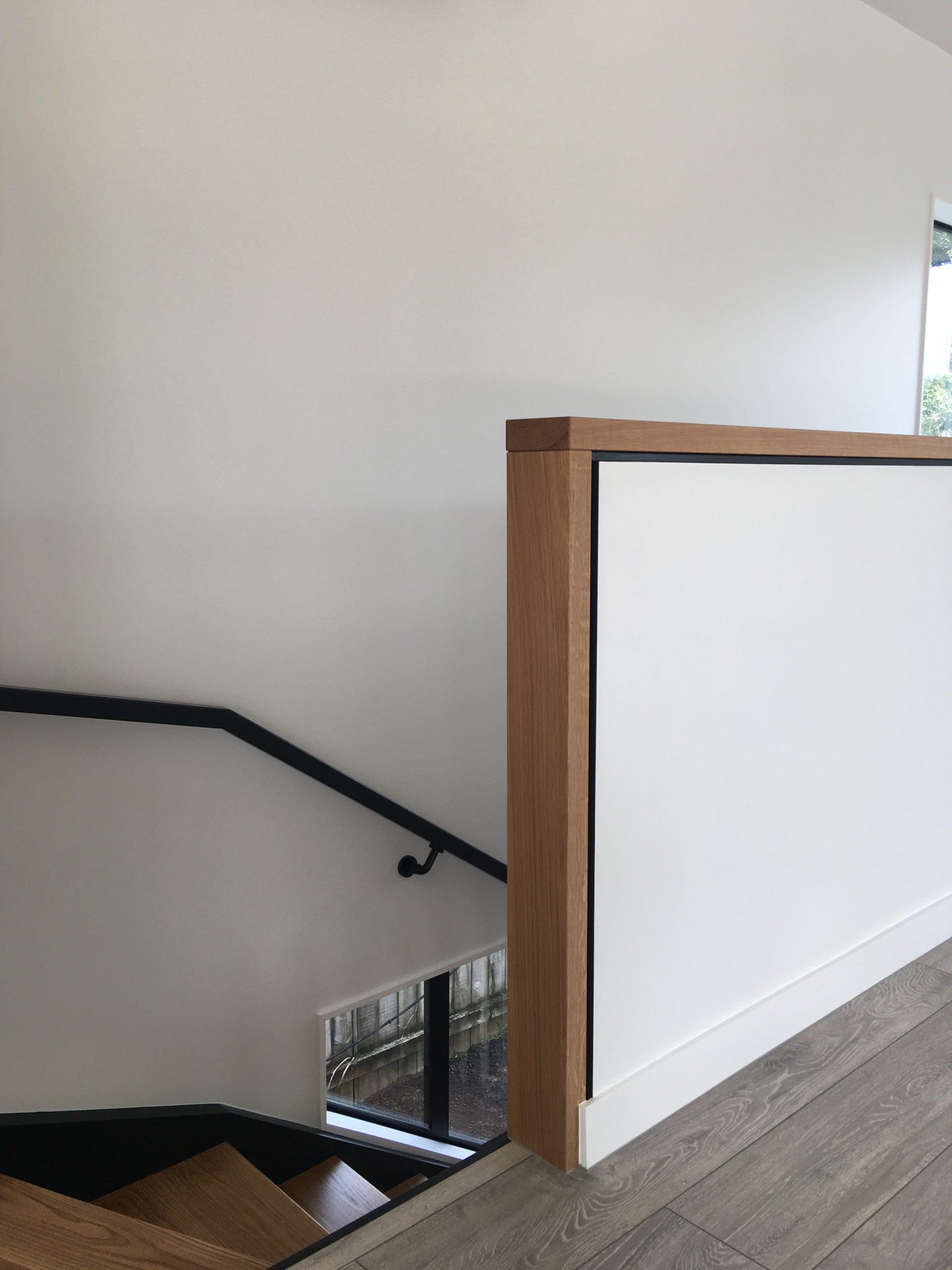 Home design details featuring custom balustrade with negative accent