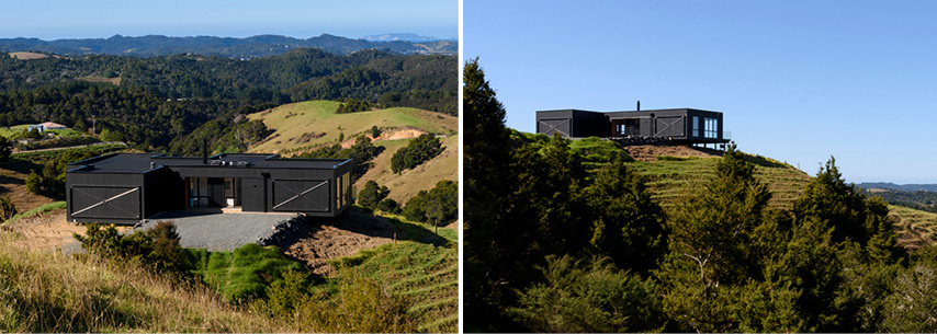 Custom design and build NZ holiday home on top of hill